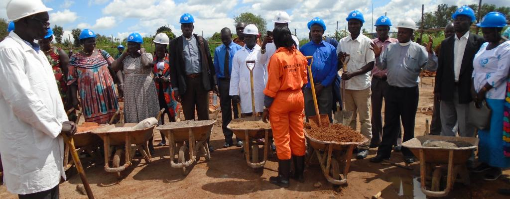 Ground breaking ceremony of administration block
